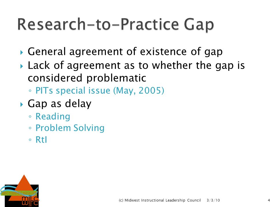 Research-to-Practice Gap