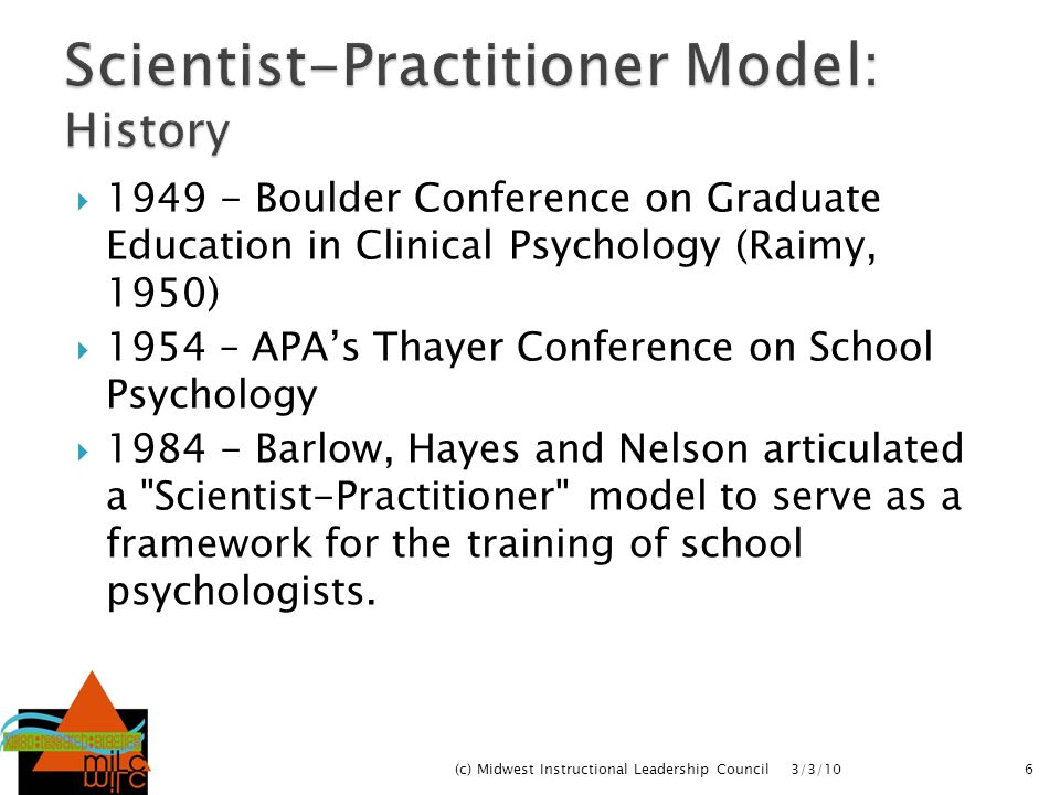 Scientist-Practitioner Model: History