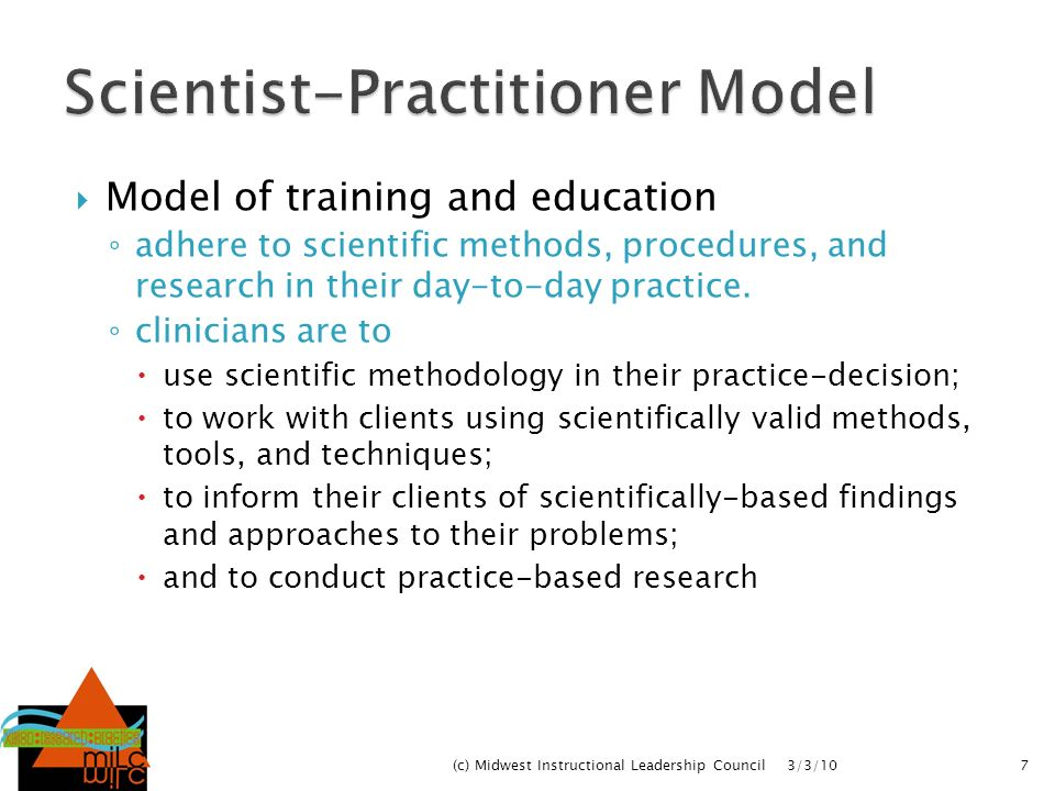 Scientist-Practitioner Model