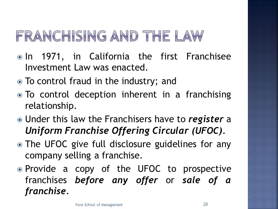the uniform franchise offering circular guidelines Disclosures by following either the rule's disclosure format or the uniform  franchise offering circular guidelines prepared by state franchise law officials.