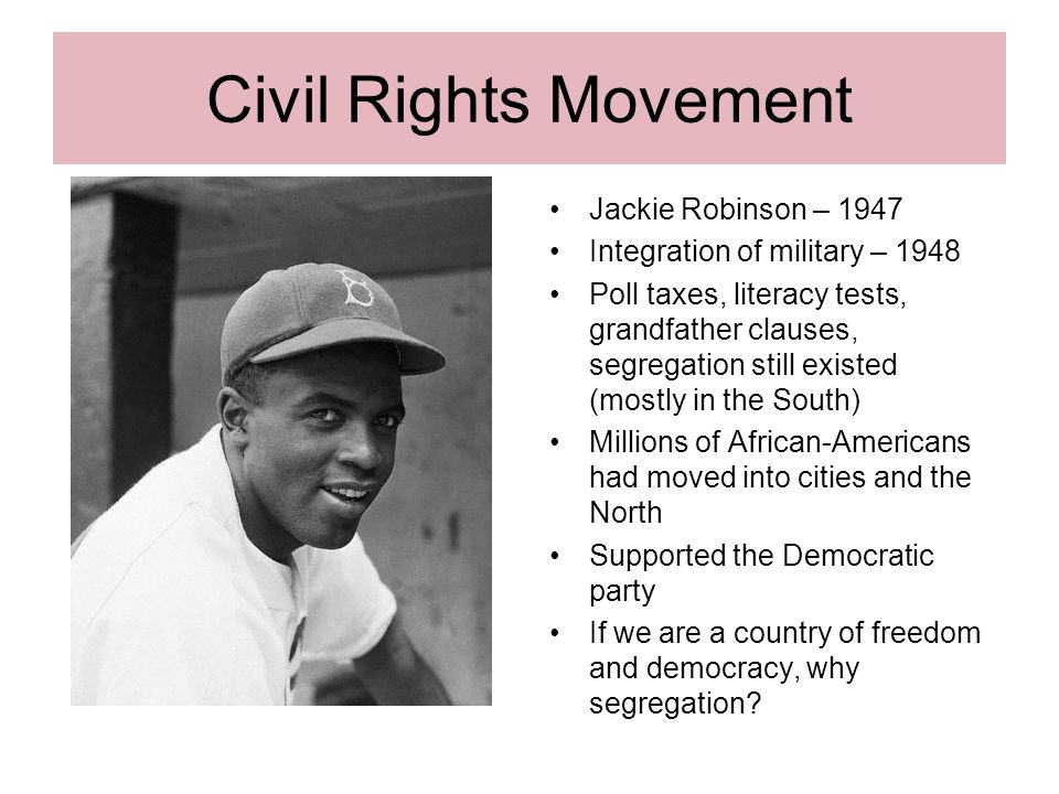jackie robinson as a civil rights activist The civil rights movement essay 1180 words | 5 pages the civil rights movement was a span of time when the african americans endeavor was to acquire their constitutional rights of which they were being deprived.