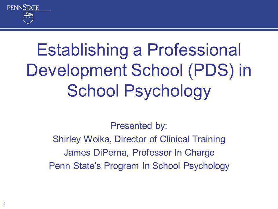 Establishing a Professional Development School (PDS) in School Psychology