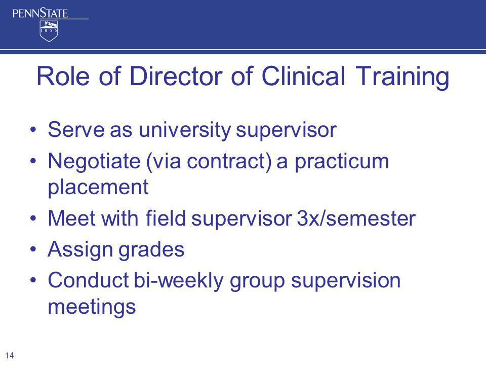 Role of Director of Clinical Training