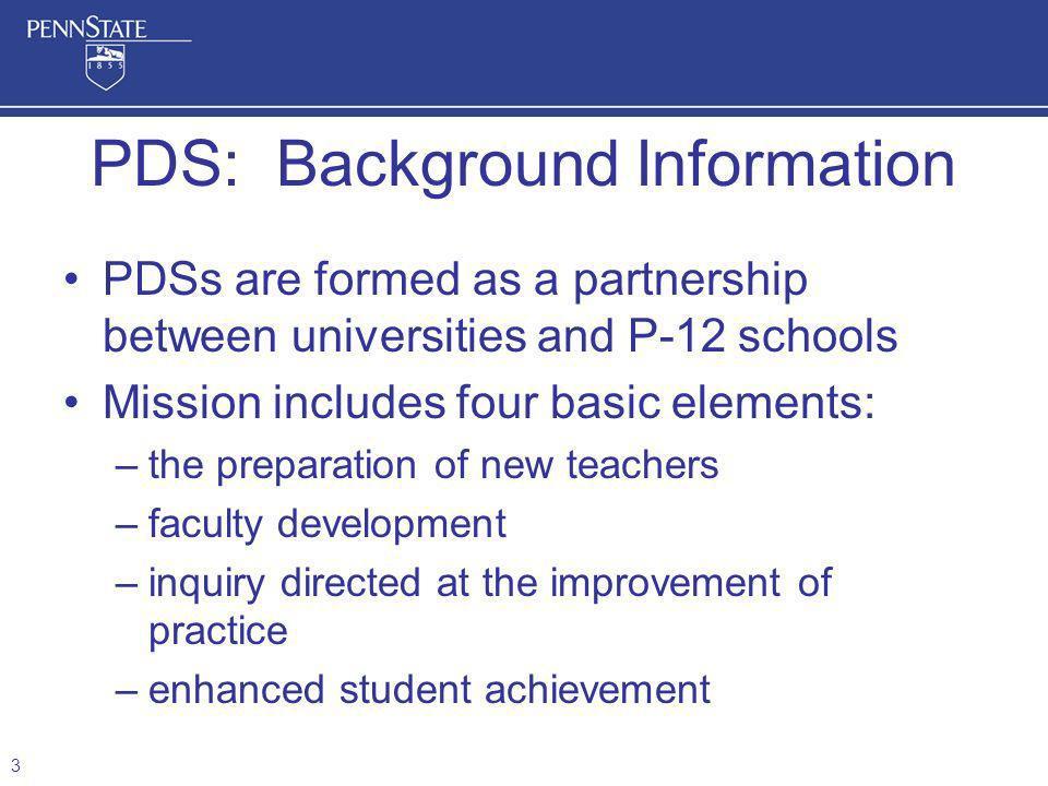 PDS: Background Information