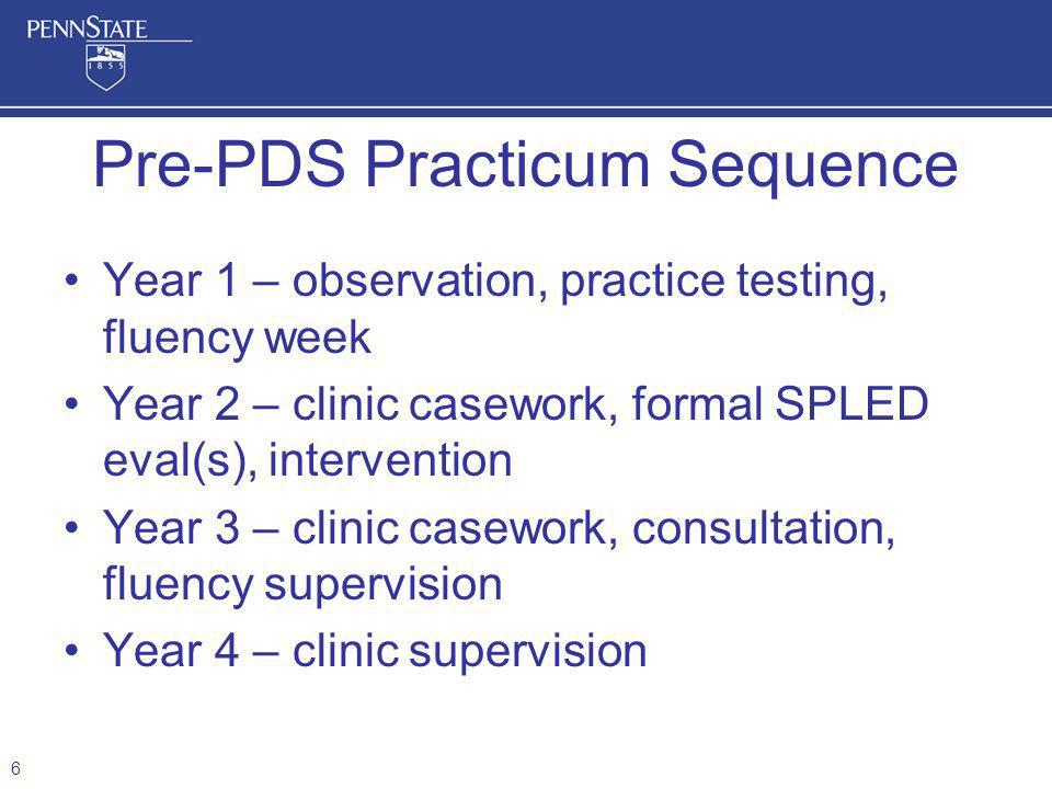 Pre-PDS Practicum Sequence