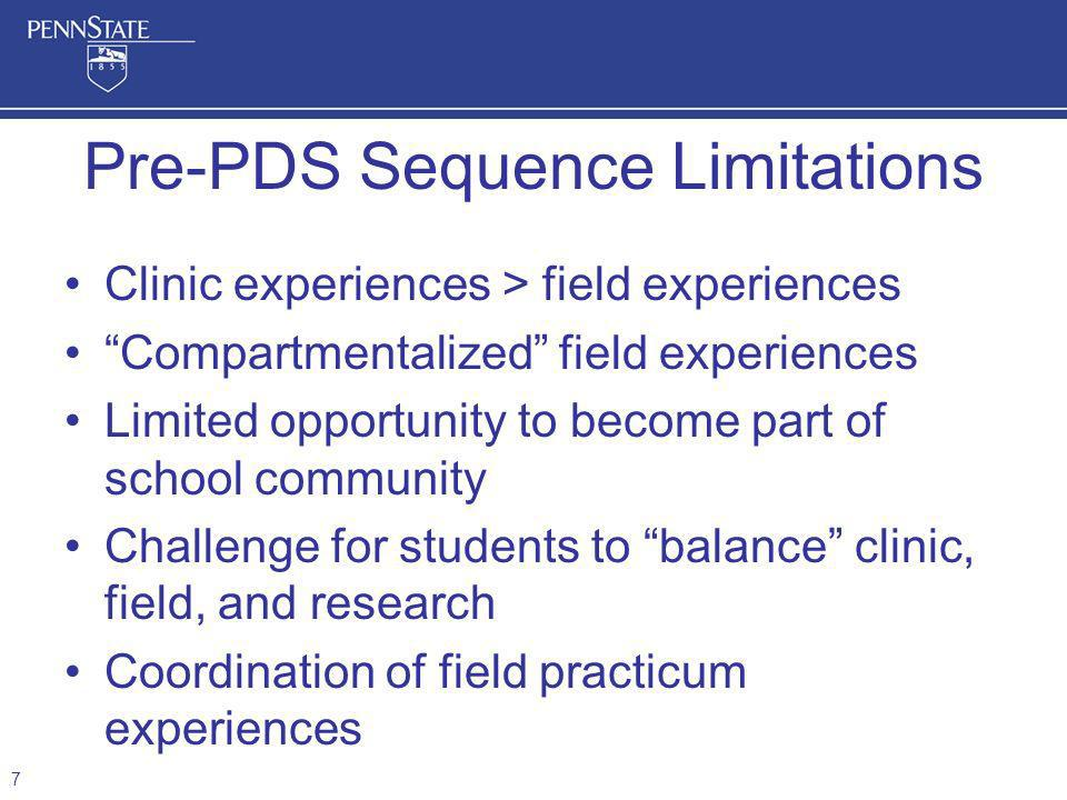 Pre-PDS Sequence Limitations