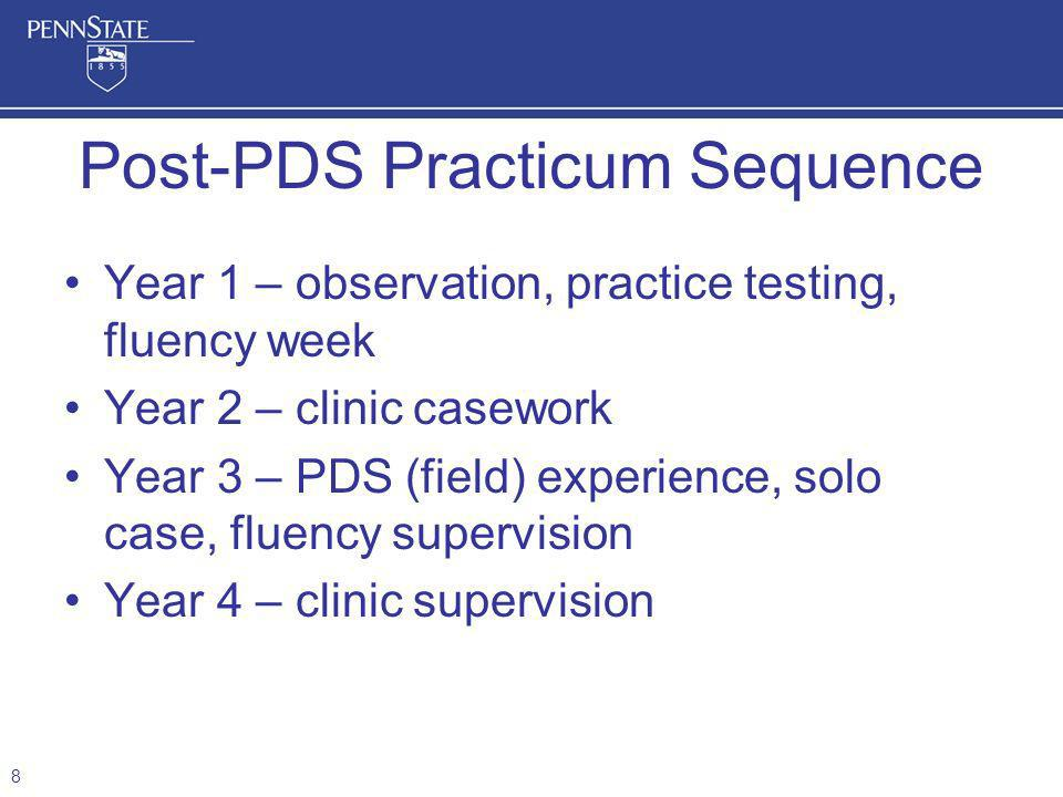 Post-PDS Practicum Sequence