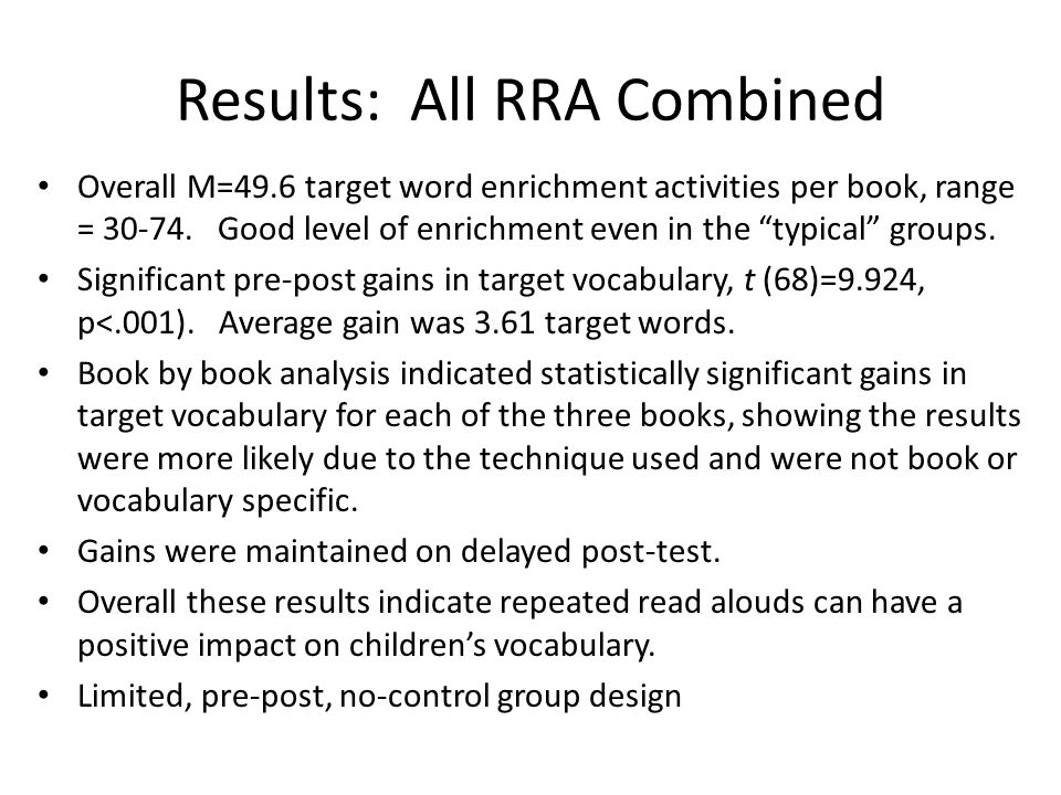 Results: All RRA Combined
