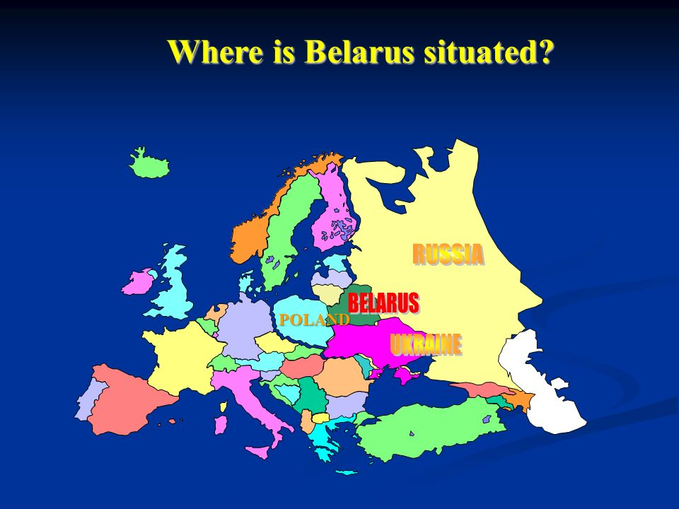 Dose Assessment For Population Around New NPP In Belarus Ppt - Where is belarus