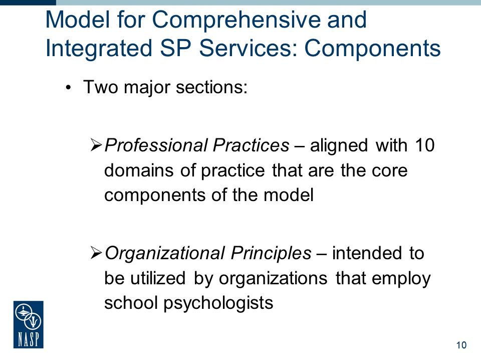 Model for Comprehensive and Integrated SP Services: Components
