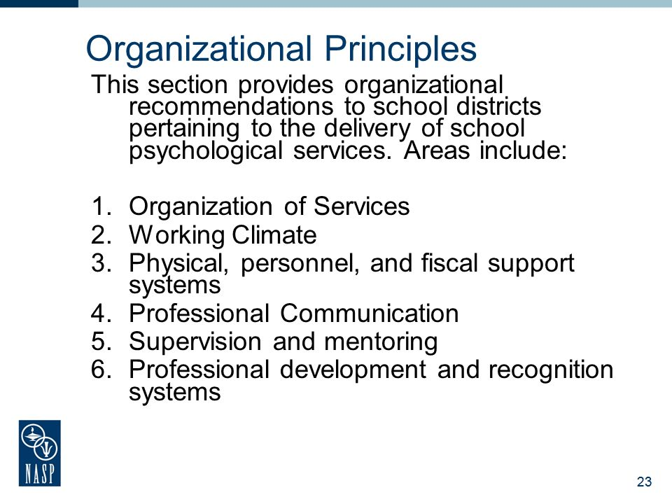 National association of school psychologists ppt download 23 organizational principles malvernweather Gallery