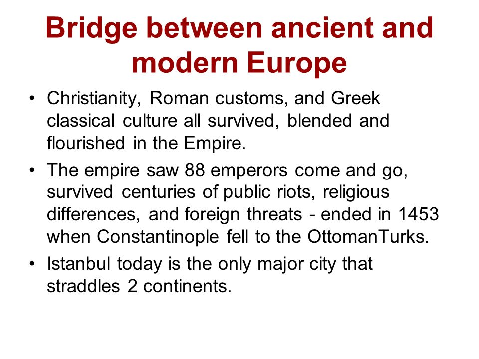 compare and contrast byzantine empire and medieval europe Compare and contrast: byzantine empire and the aztecs essay the byzantine empire and medieval europe compare & contrast han and rome.