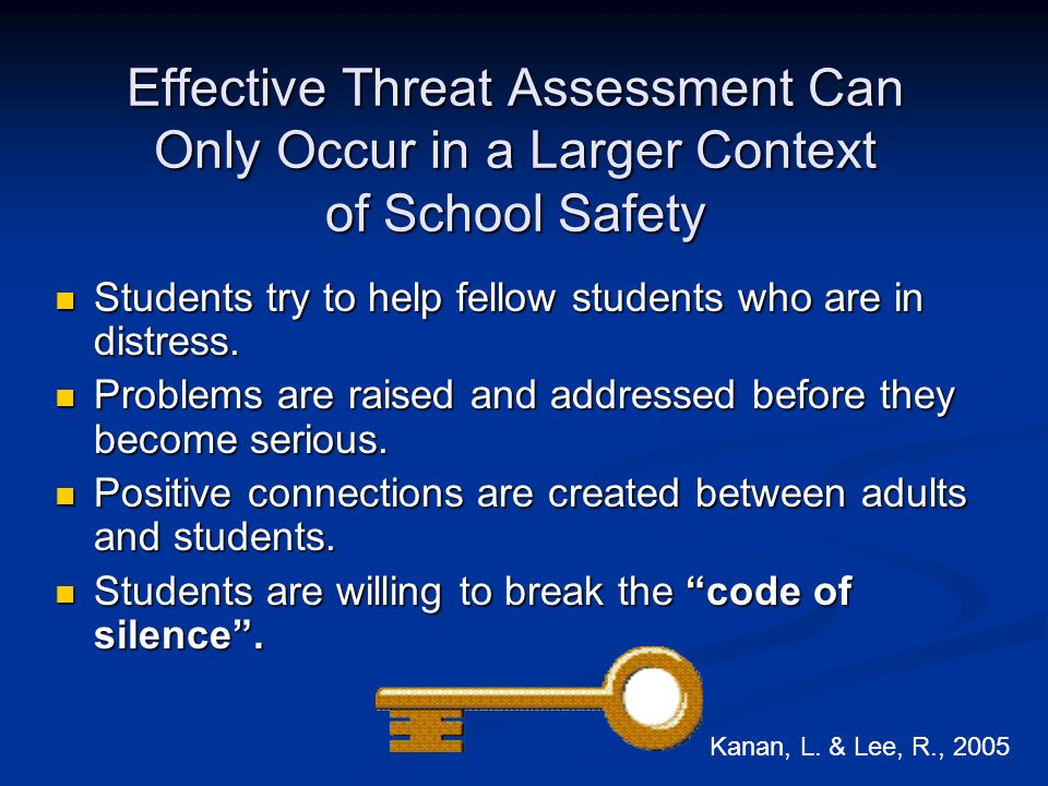 Effective Threat Assessment Can Only Occur in a Larger Context of School Safety