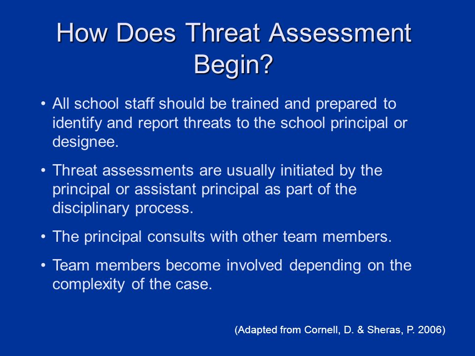 How Does Threat Assessment Begin