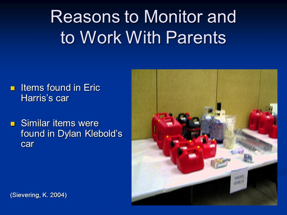Reasons to Monitor and to Work With Parents