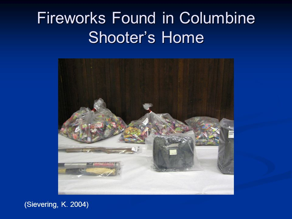 Fireworks Found in Columbine Shooter's Home
