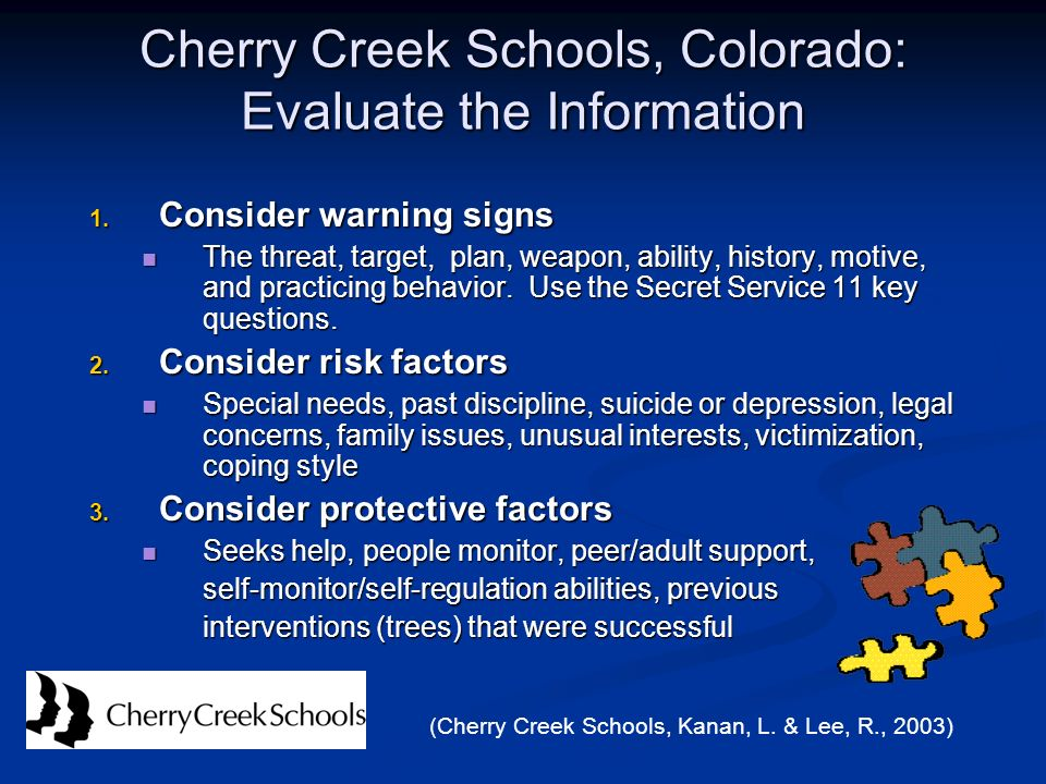 Cherry Creek Schools, Colorado: Evaluate the Information