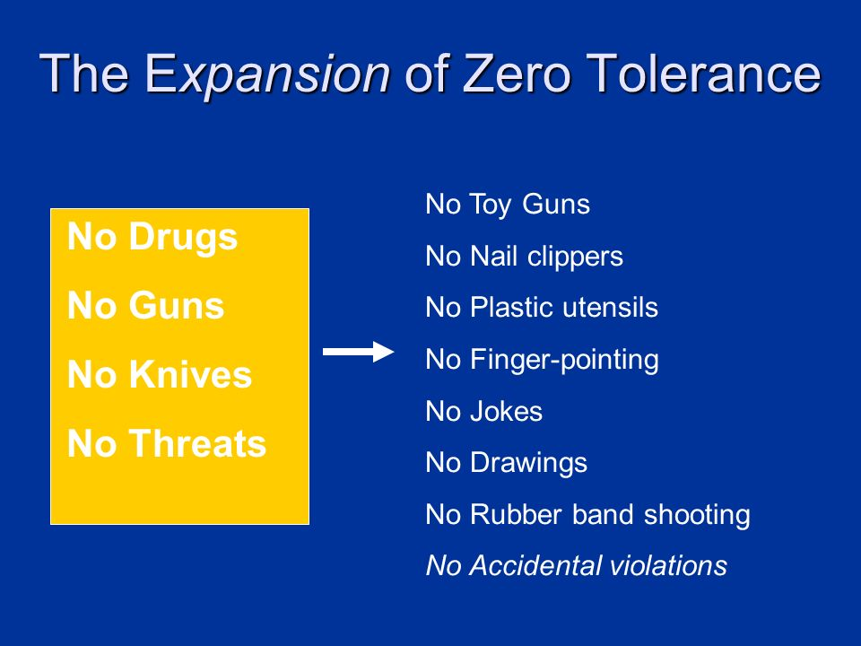 The Expansion of Zero Tolerance