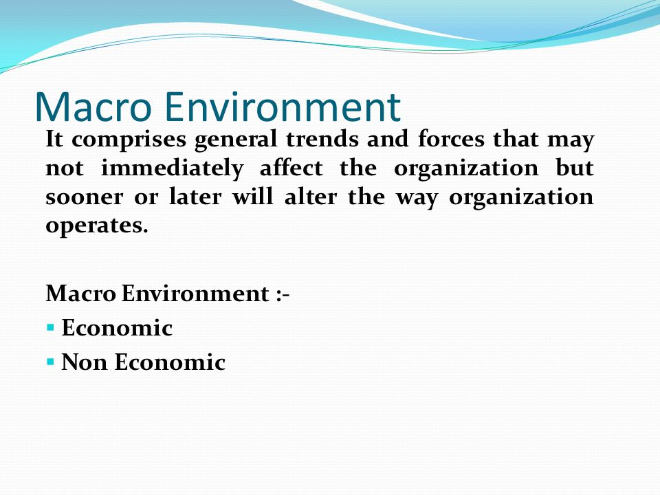 What are Macro Environment Factors?