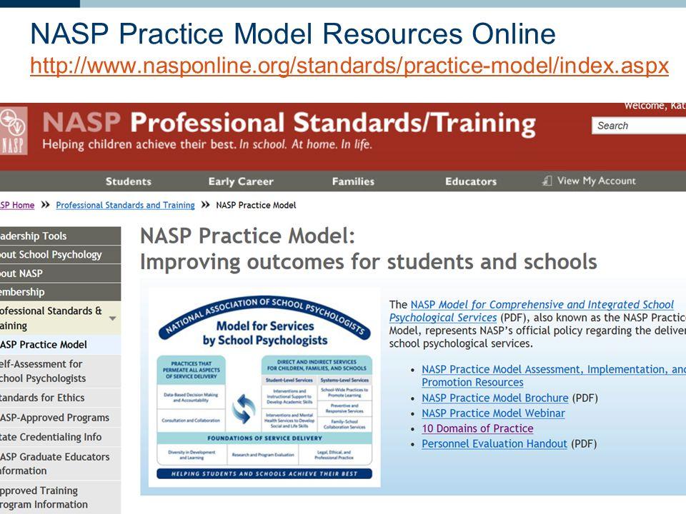 NASP Practice Model Resources Online