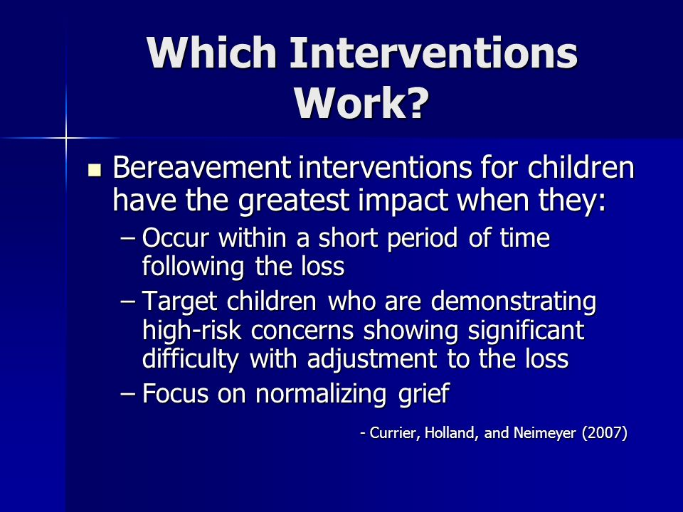 Which Interventions Work
