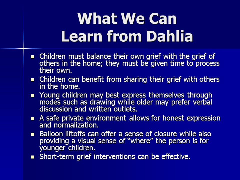 What We Can Learn from Dahlia