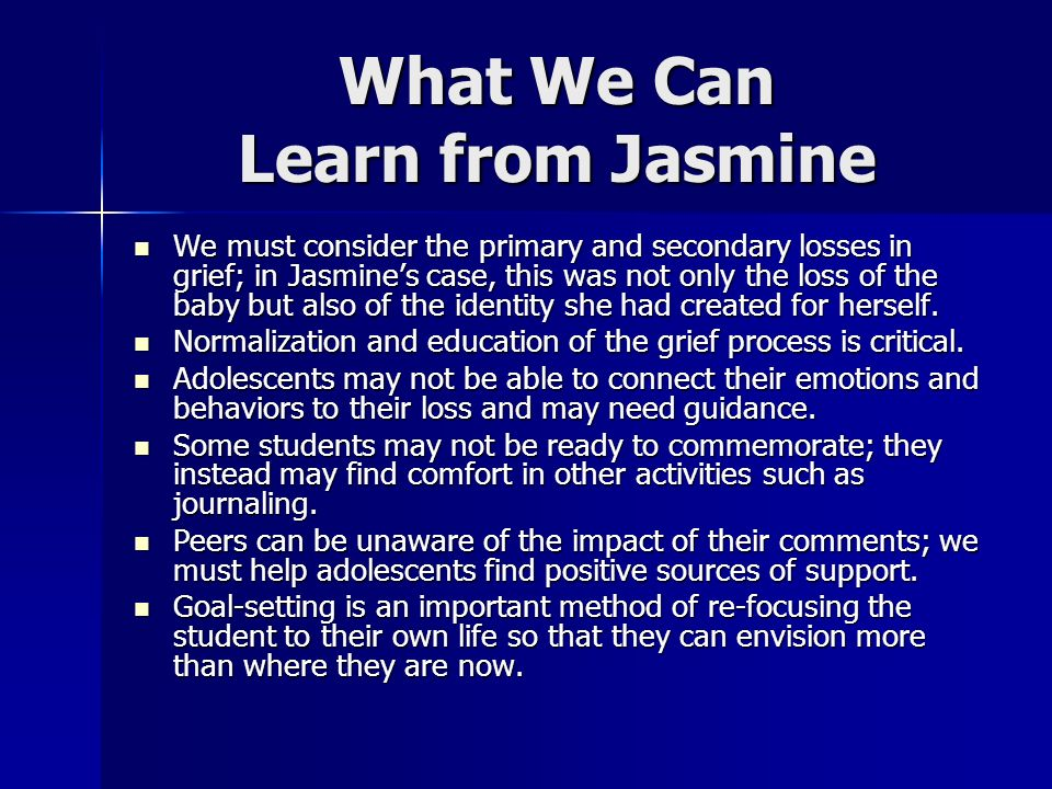 What We Can Learn from Jasmine