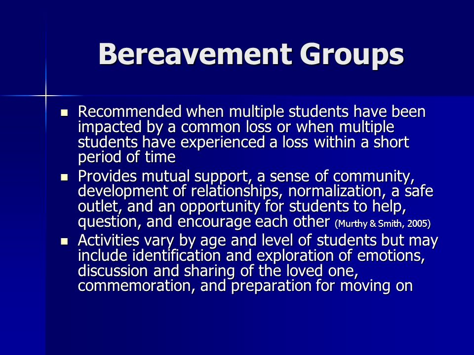 Bereavement Groups