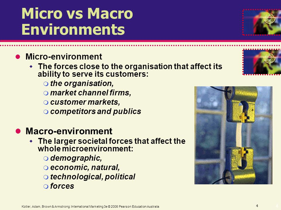 micro and macro market enviroment 2011-3-21  macro and micro economic factors of small enterprise competitiveness  market, and they have  kadocsa et al macro- and.