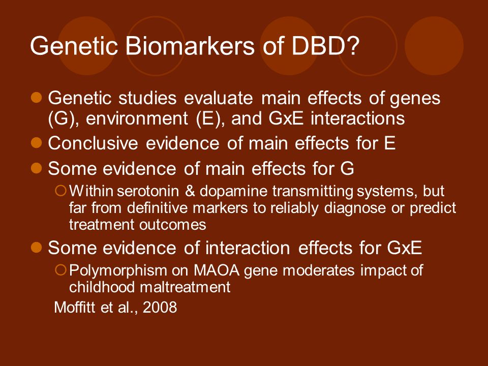 Genetic Biomarkers of DBD