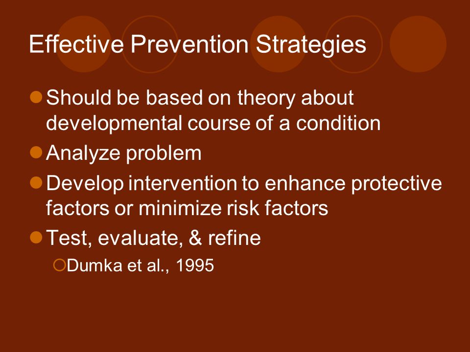 Effective Prevention Strategies
