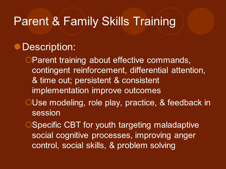 Parent & Family Skills Training