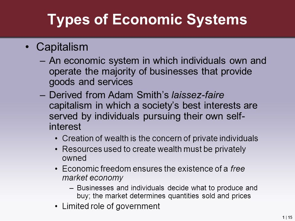 laissez faire a type of capitalism Broadly defined, it is an economic system based on private ownership and control over of the means of production under laissez-faire capitalism.