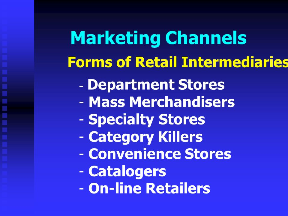 marketing channel essay Marketing management different types of distribution channels - louna sbou - term paper - business economics - trade and distribution - publish your bachelor's or.