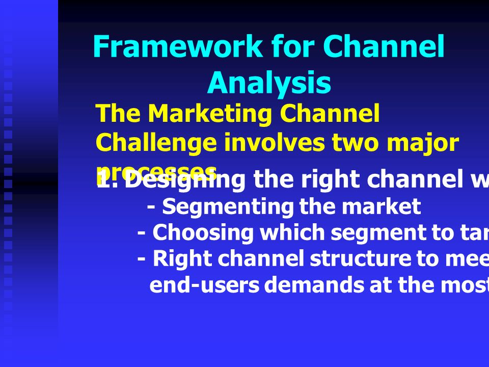 marketing channel analysis Think of a distribution channel as one slice of the overall marketing pie it is how a company gets its products or services to the consumers a channel acts as an important part of your small .