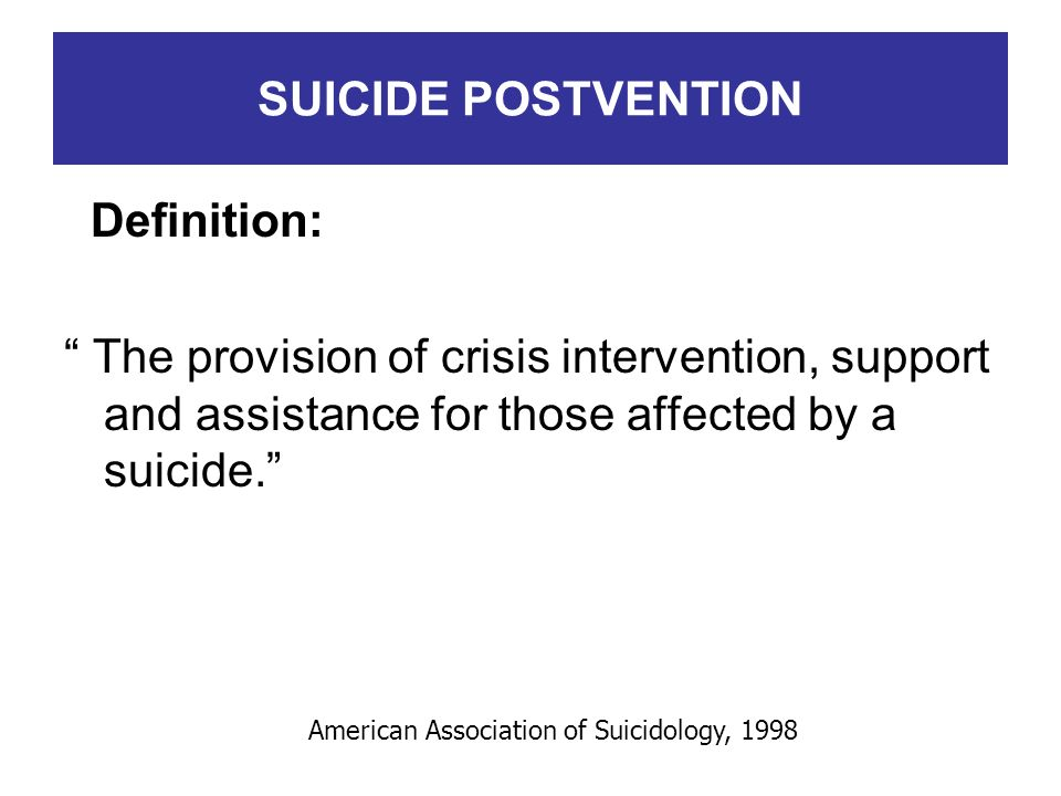 American Association of Suicidology, 1998