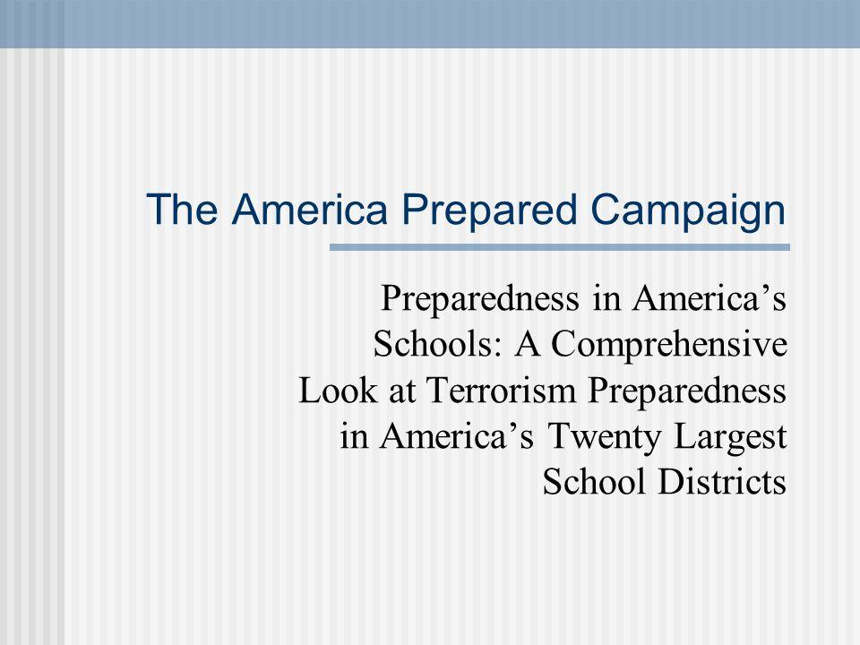 The America Prepared Campaign
