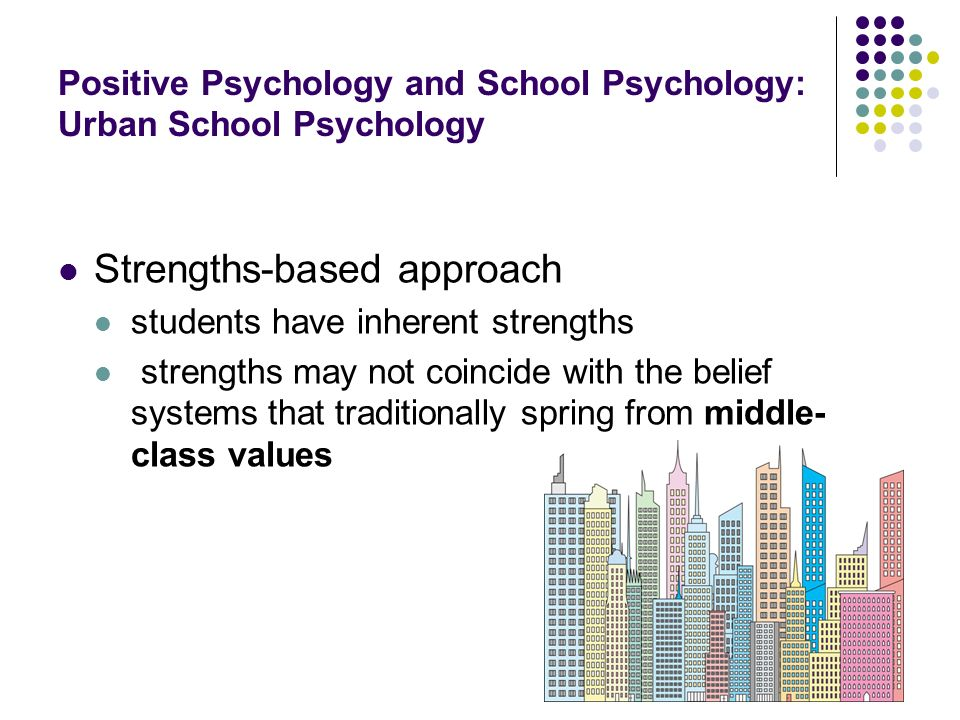 Positive Psychology and School Psychology: Urban School Psychology