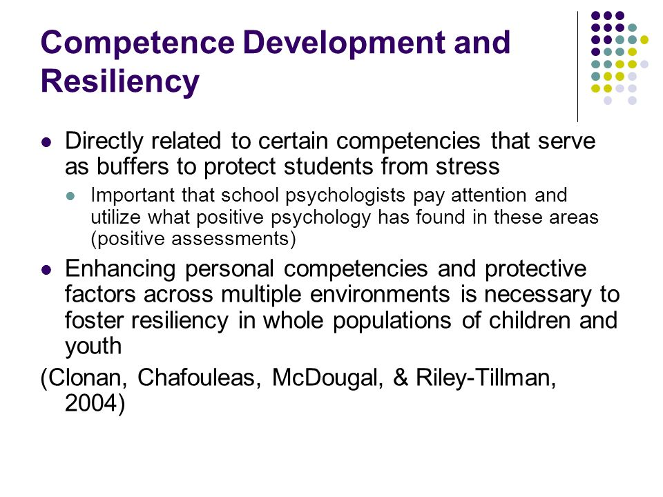 Competence Development and Resiliency