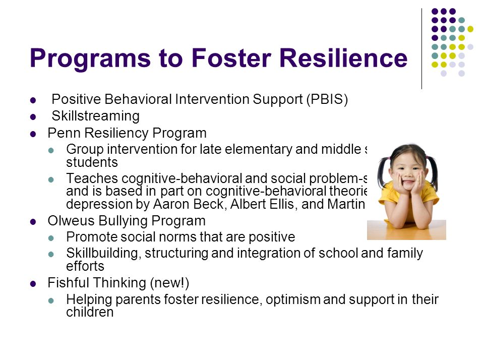 Programs to Foster Resilience
