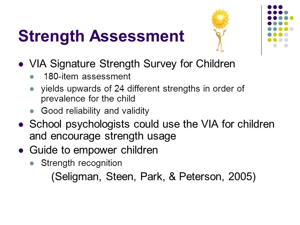 Strength Assessment VIA Signature Strength Survey for Children