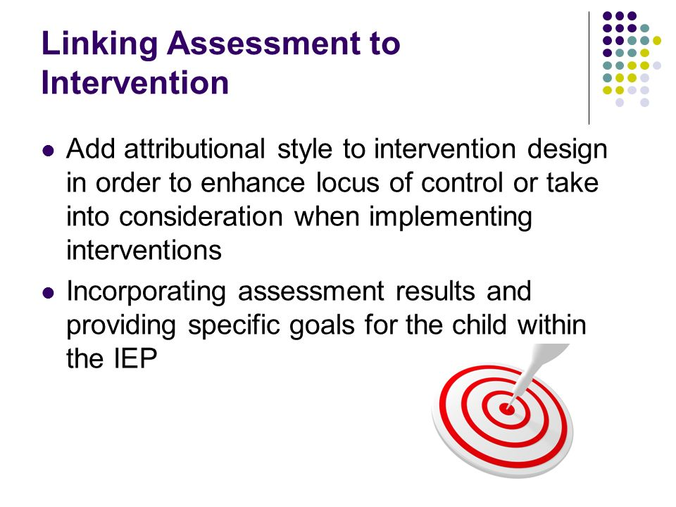 Linking Assessment to Intervention
