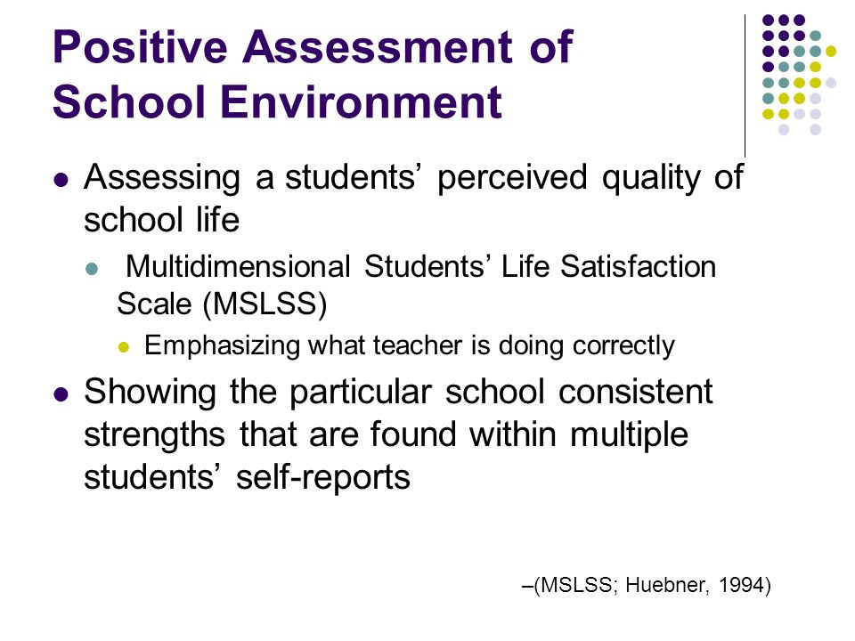 Positive Assessment of School Environment