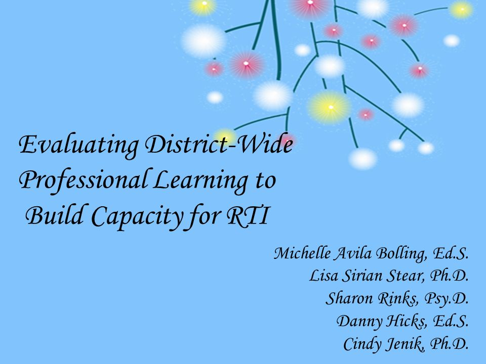 Evaluating District-Wide Professional Learning to Build Capacity for RTI