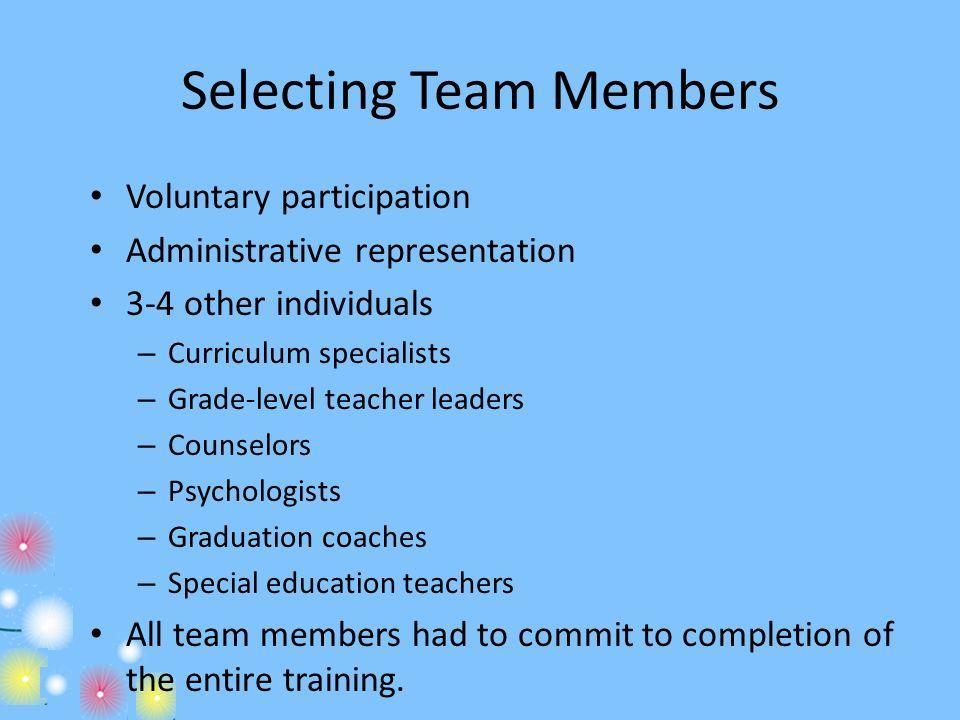 Selecting Team Members
