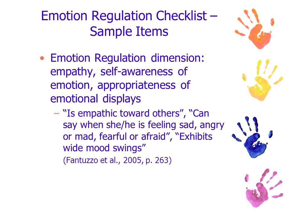 Emotion Regulation Checklist – Sample Items
