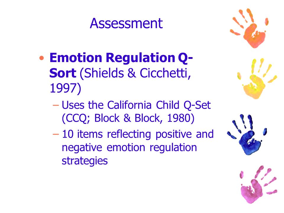 Assessment Emotion Regulation Q-Sort (Shields & Cicchetti, 1997)