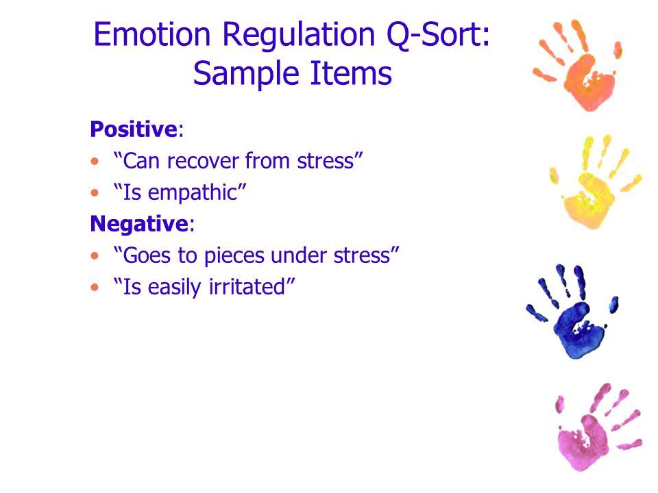 Emotion Regulation Q-Sort: Sample Items