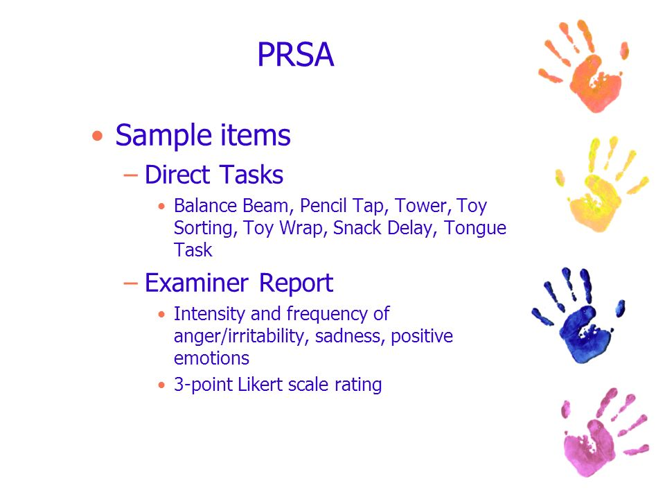 PRSA Sample items Direct Tasks Examiner Report