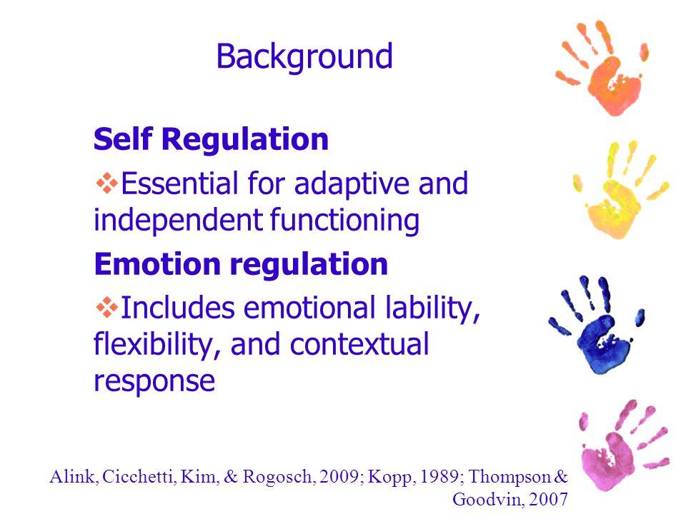 Background Self Regulation
